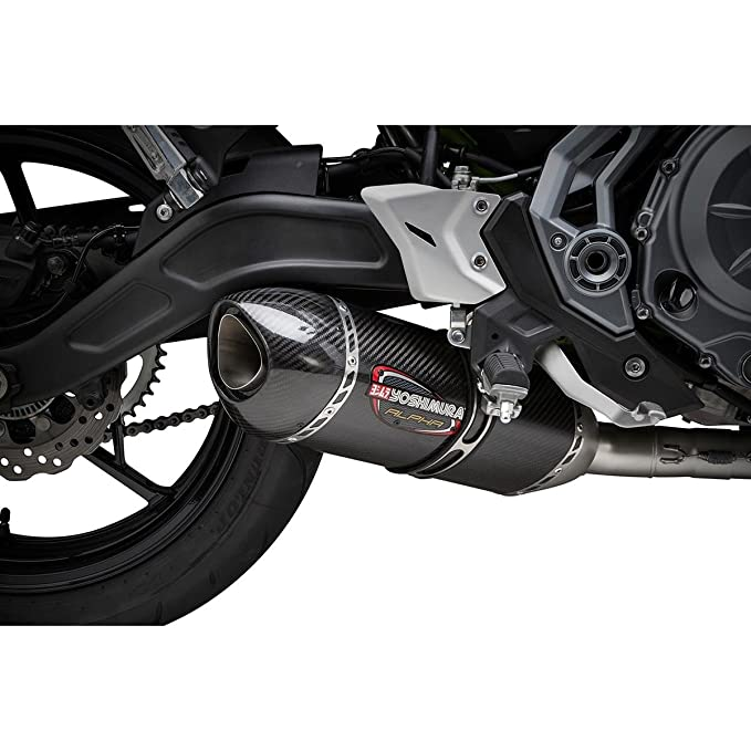 Yoshimura 17-18 Kawasaki EX650E Alpha Full System Exhaust (Race/Stainless  Steel/Carbon Fiber/Carbon Fiber/Works Finish)