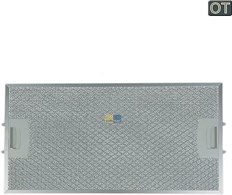 Filtro de grasa, metal Filtro trasera, rectangular para campana Bosch Siemens 00434107, 434107: Amazon.es: Grandes electrodomésticos