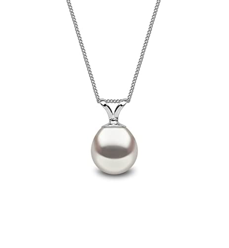 Kimura Cultured Freshwater Pearl Pendant Drop Shape 925 Sterling Silver 16 Inch Chain pZkviGf