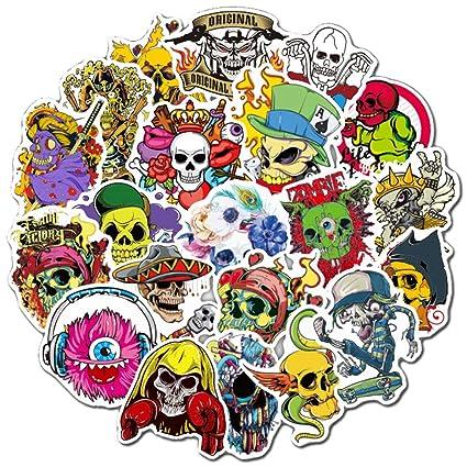 50pcs Skateboard Stickers Horror Sticker Bomb Luggage Stickers Decals PVC Vinyls