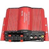 KKmoon MA200 Amplificatore Stereo a 4 Canali HiFi Audio Altoparlante per Auto Subwoofer USB SD FM
