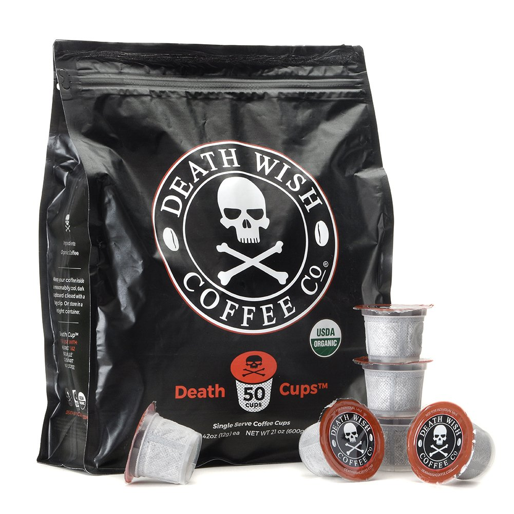 Death Wish Single Serve Coffee Pods for Keurig/K-Cup Style 2.0 Brewers, USDA Certified Organic & Fair Trade (50 Count Bulk Value Bag) by Death Wish Coffee Co.