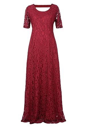 Suimiki Damen Übergröße schnüren Gefüttert Kleid Festlich Kleider ...