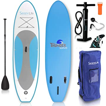 best SereneLife Inflatable Stand Up Paddle Board reviews