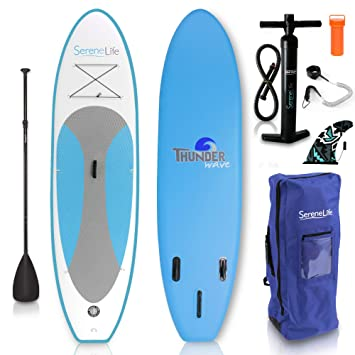 serenelife hinchable Stand Up Paddle Board (6 cm de grosor ...