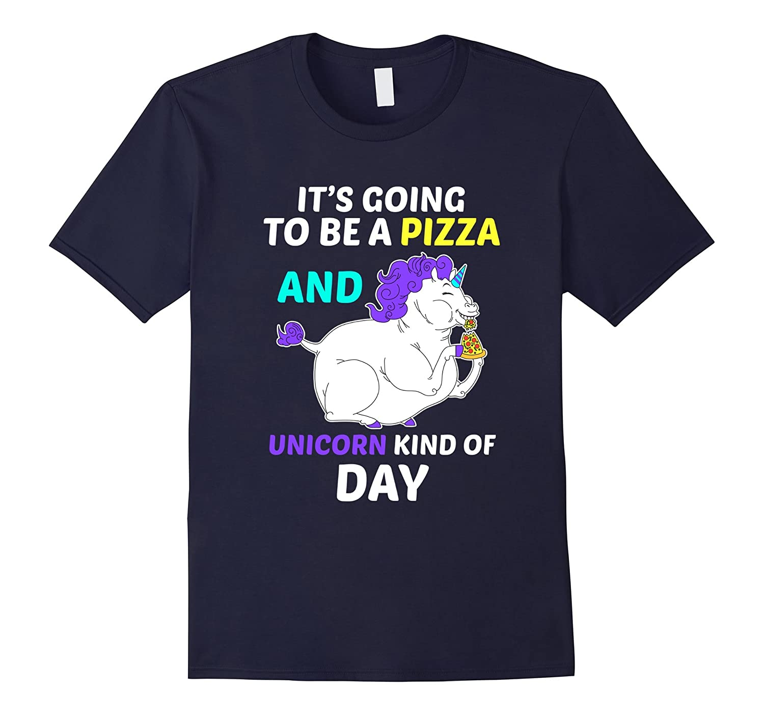 FUNNY PIZZA AND UNICORN DAY T-SHIRT Magical Food Gift-Art