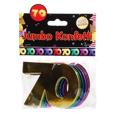 Jumbo Zahlen Konfetti 40 Geburtstag Dekoration Party Tischdeko Bunt