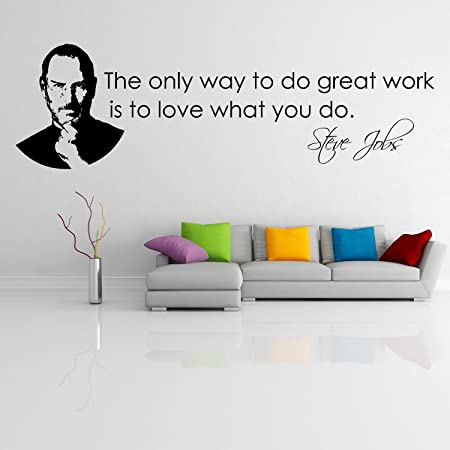 Steve jobs the only way wallstickers vinyl wall stickers