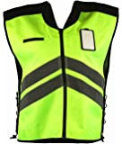 Vega Helmet High Visability Yellow Safety Vest (Yellow, X-Large to XXX-Large)
