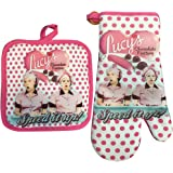 Midsouth Products I Love Lucy Oven Mitt/Pot Holder Set