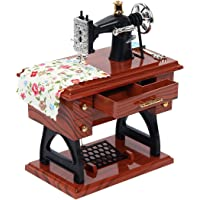 HOsometh Vintage Music Box Mini Sewing Machine Mechanical Toy Home Table Decoration Gift