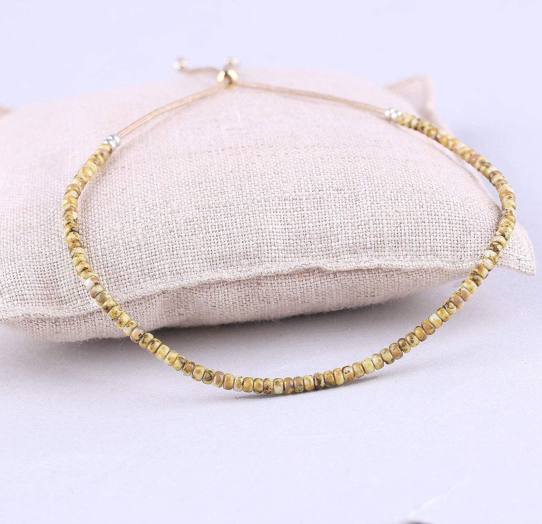 KELITCHC Seed Beads Strand Bracelet Bohemian Hand Woven Friendship String Bracelets Jewelry