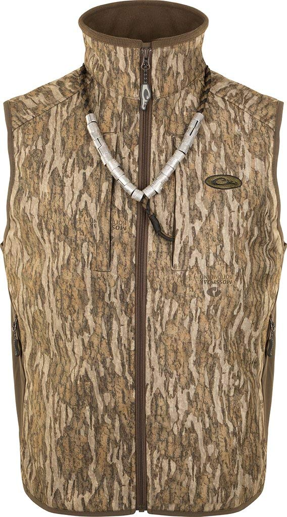 Drake EST Camo Windproof Tech Vest, Color: Mossy Oak Camo Bottomland, Size: X-Large (DW1602-006-4) by Drake