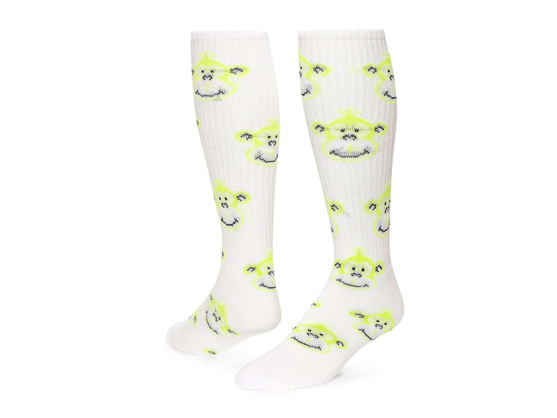 レッドライオンMonkey面A Bunch of Fun Socks B00AG36U78 Medium|White / Neon Green White / Neon Green Medium