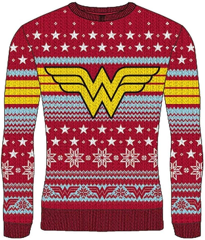 DC Comics Jersey de Navidad de Punto Wonder Woman Unisex