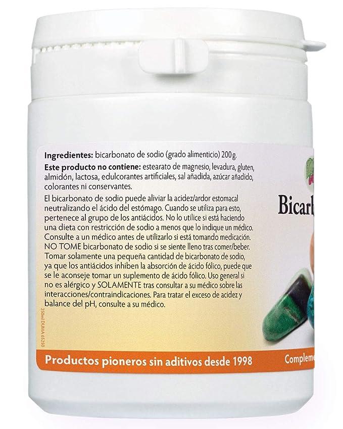 Bicarbonato de sodio 200g (grado alimenticio): Amazon.es: Salud y cuidado personal