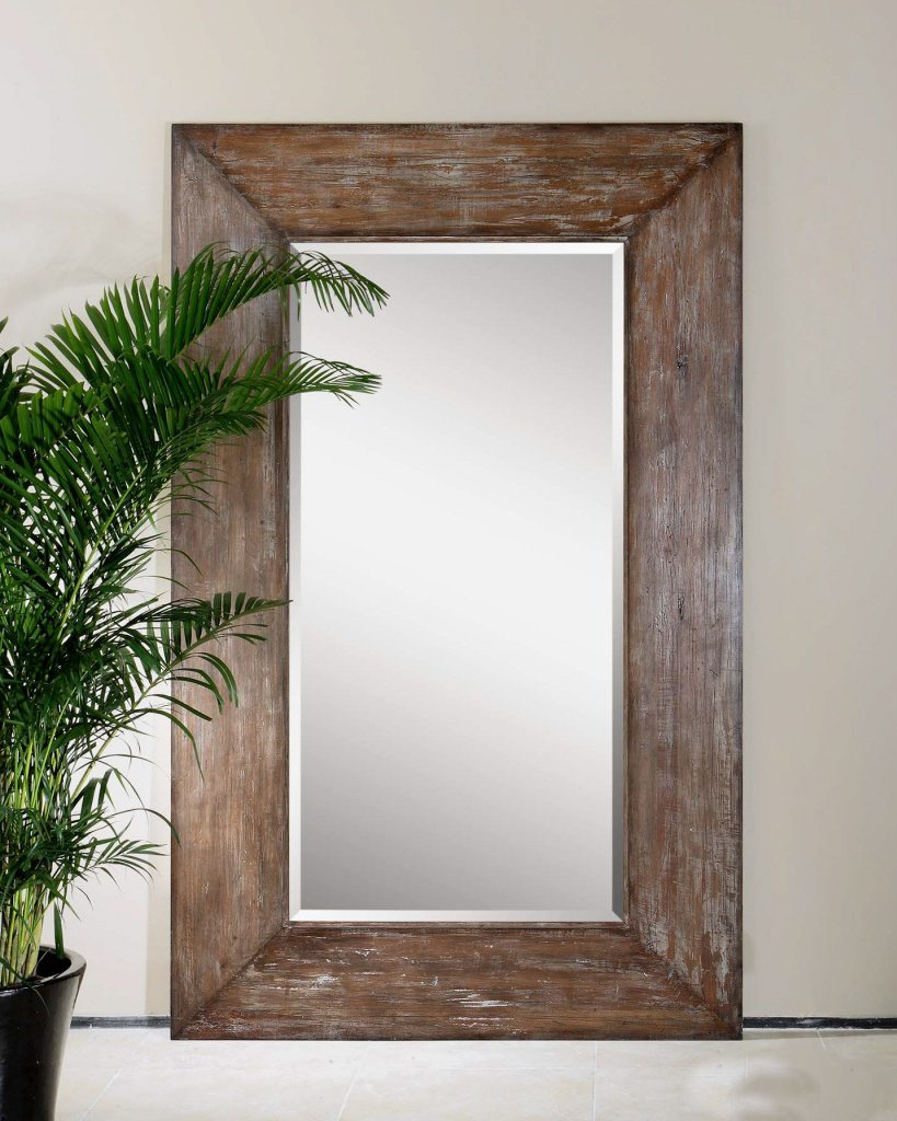 amazoncom extra large wall mirror oversize rustic wood xl luxe full length floor leaner home u0026 kitchen