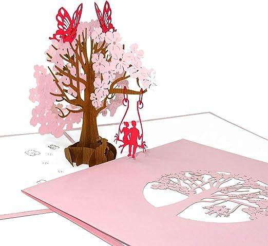 Kirsche Geburtstagskarte Weihnachtskarten  3d Pop up Hochzeitskarte Umschlag