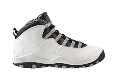 separation shoes fd530 c7deb Jordan Air 10 Retro (GS) Big Kids Shoes White Black-Light Steel