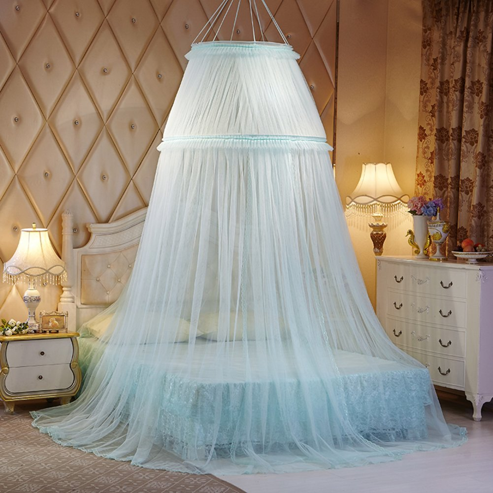 Ceiling dome court mosquito net, Round During Princess Double canopy bed-E Queen1
