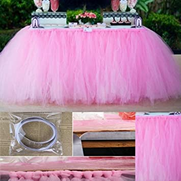 Tutu Falda de mesa de tul, falda de mantel apta para boda, fiesta ...