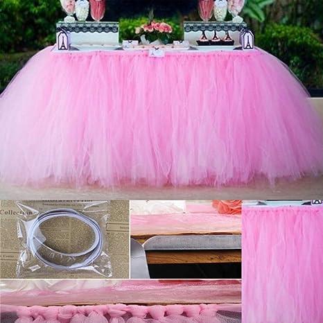 Tabelle Rock Cover Geburtstag Hochzeit Party Dekoration Tisch Stoff Polyester