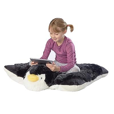 """Pillow Pets Jumboz, Penguin, 30"""" Jumbo Folding Plush Pillow: Home & Kitchen"""