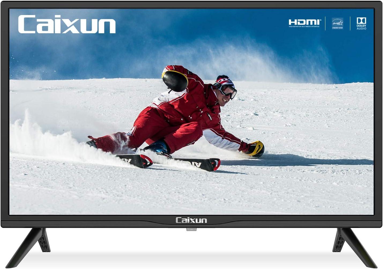 Caixun 24-Inch TV 720P Basic LED HD TV-C24 Flat Screen Television Built-in HDMI,USB,VGA,Earphone,Optical Ports - Refresh Rate 60Hz (2021 Model)