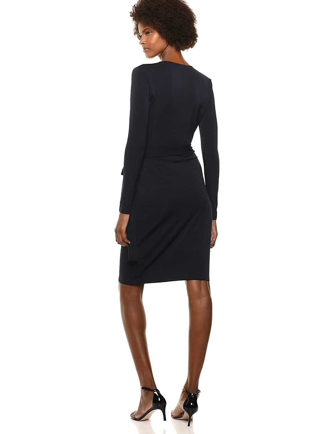 Lark /& Ro  Brand Womens Classic Long Sleeve Wrap Dress