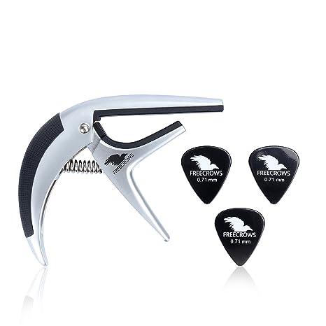 Eléctrica y Acústica Metal Guitar Capo: sintonizador de cambio rápido accesorios herramienta para, clásica