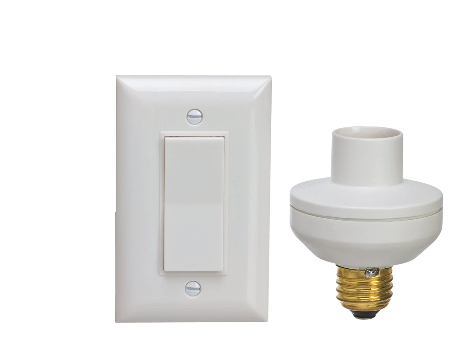 Wireless Remote Control Light Switch and Socket Cap to Turn Lamps ...