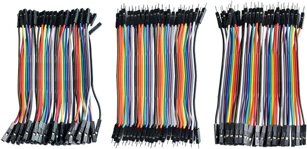 Male to Female and Female to Female Jumper Wire Dupont Cable TD-ELECTRO Dupont line 1200pcs 10cm Male to Male