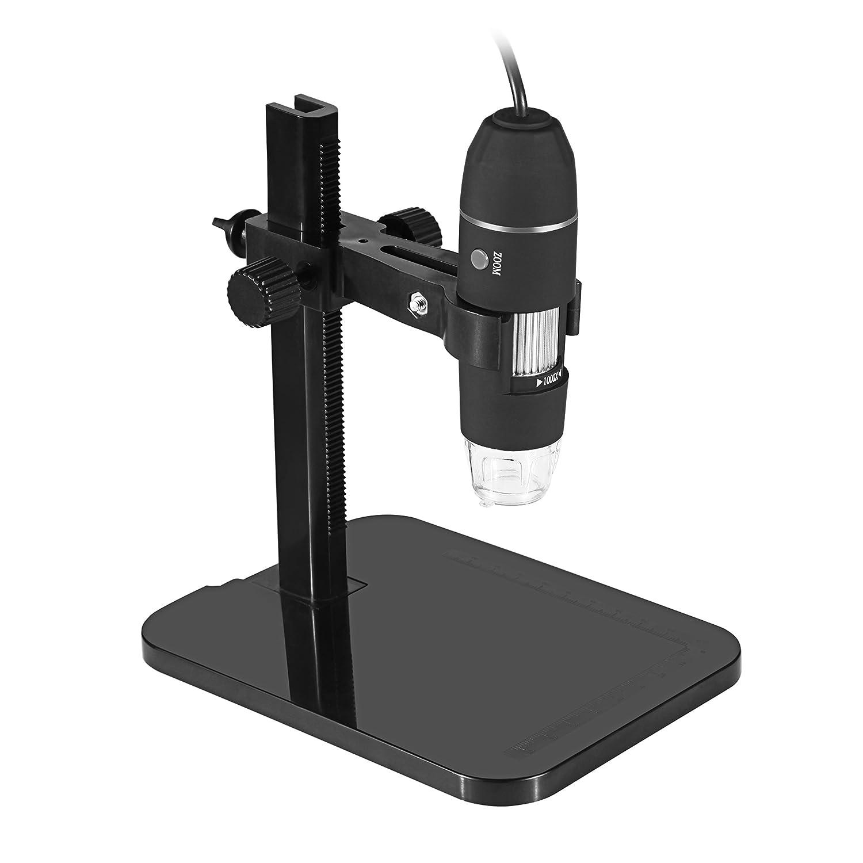 Zhen Rong USB Digital Microscope Microscope 20X-1000X 8 LED USB Microscope Endoscope Magnifier PC Camera Teaching Repair Textile Cosmetology Skin Magnifier Send Elevator Ltd.
