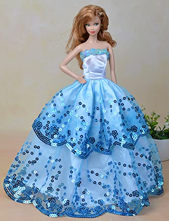 Amazon.com: Olivia\'s Doll Closet Blue Ball Gown with Light Blue ...