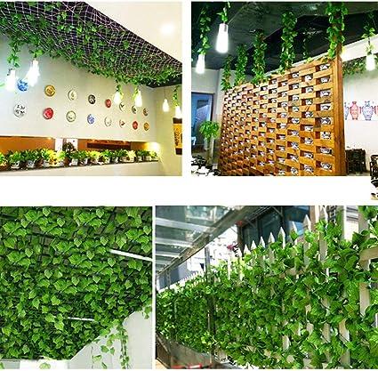 Bluelliant Plantas Artificiales Exterior Interior Hojas Artificiales De Enredaderas 25 Metros Decoración para Jardin Vertical Pared Cesped Guirnaldas Cortinas Boda Escalera Puerta: Amazon.es: Hogar