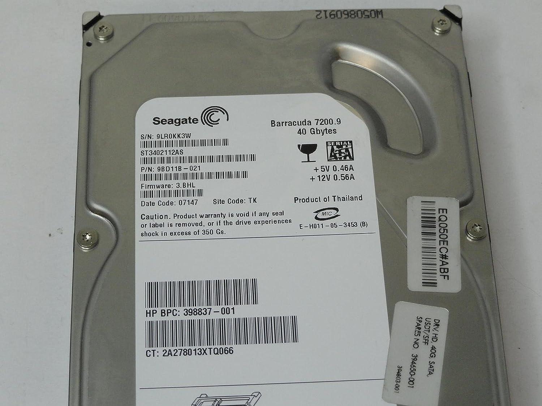 HP 40 GB HDD DRV SATA USDT Renewed 394650-001