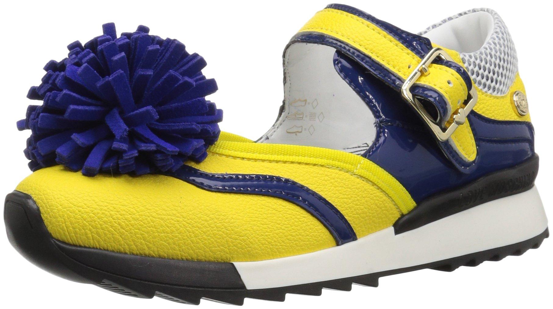 Love Moschino Women's JA15102G15ID140A Sneaker, Yellow/Blue, 37 M EU (6 US)