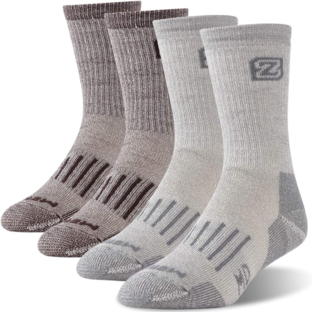 ZEAL WOOD Unisex Hiking Trekking Quarter Socks Thermal Warm Winter Socks,1//2//4 Pairs Merino Wool Socks