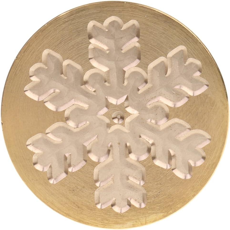 Retro Siegelwachs Siegel Stempel Weihnachten Schneeflocke Glocken F/ür Einladungskarten