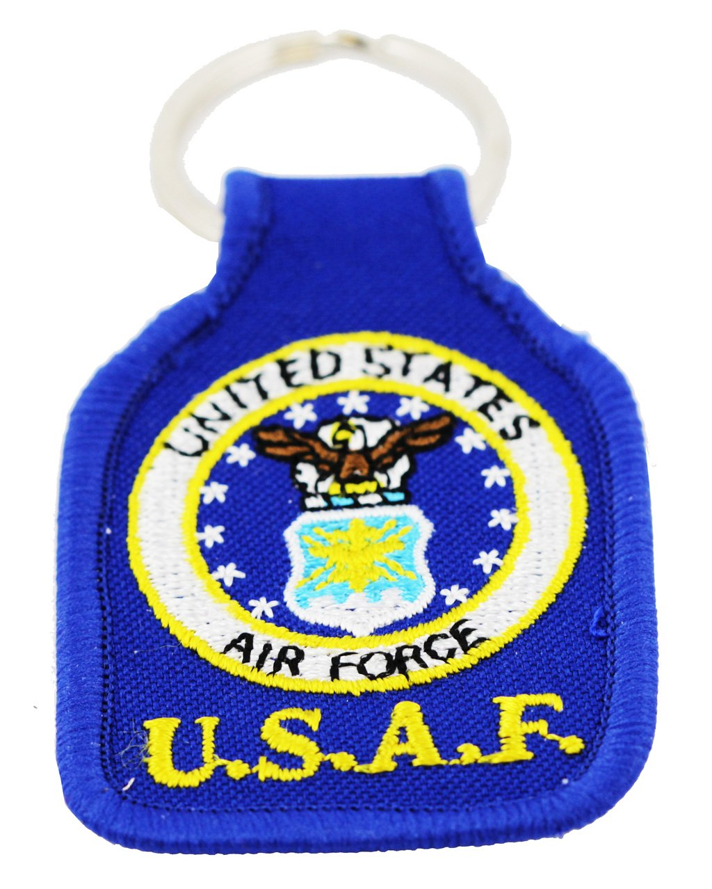 US Air Force Keychain United States Air Force Embroidered Key Chains Military Products Patriotic Gifts for Men Women Teens Christmas Holidays Birthdays Veterans Day Rush Industries Inc.
