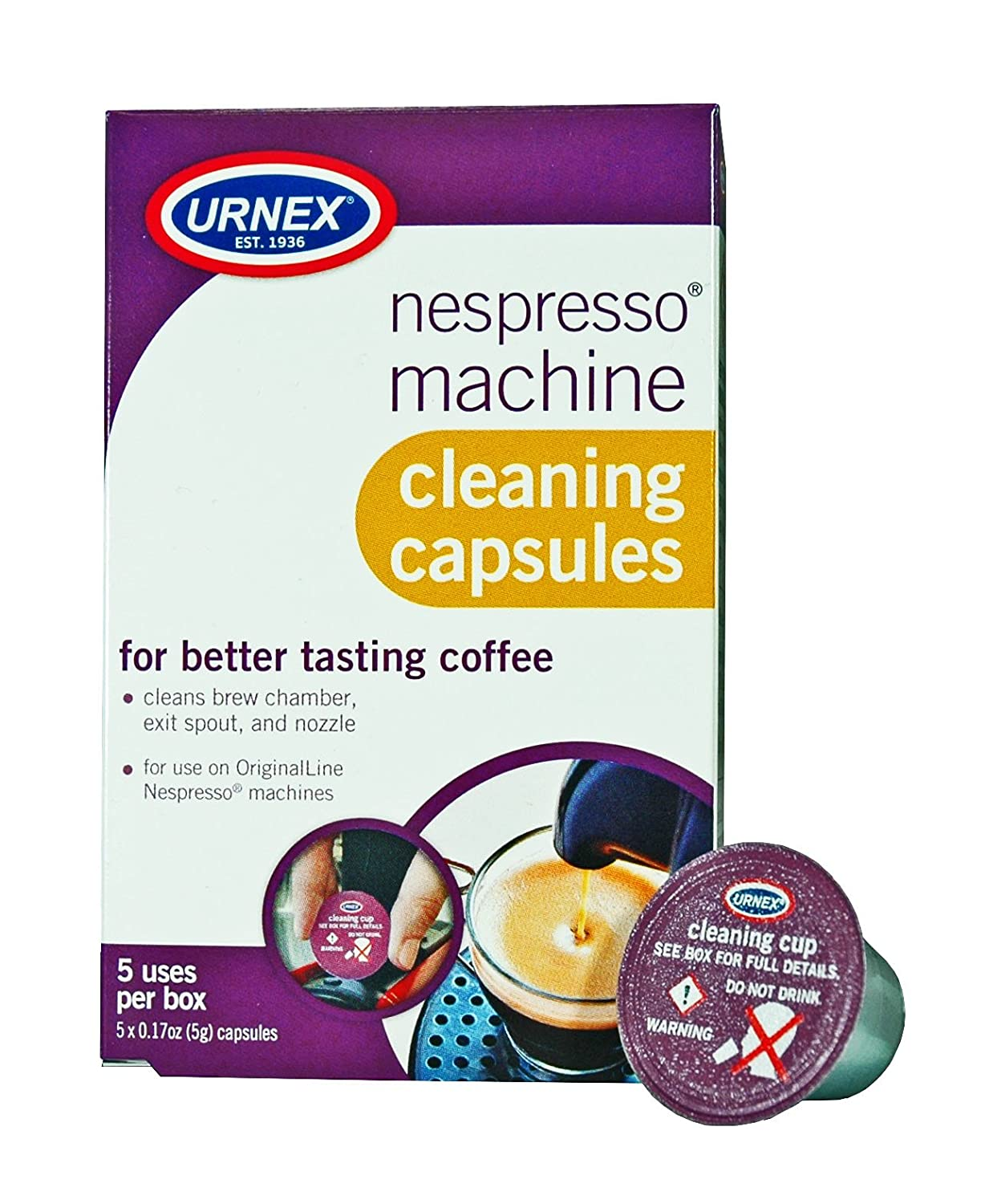 Urnex Nespresso Machine Descaling & Cleaning Kit 25-CCP-UX-N05