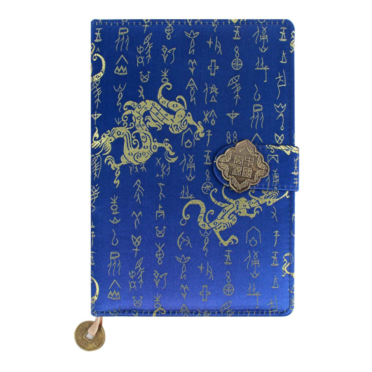 Kennedy Exquisite Notebook Chinese Yun Brocade Notebook Silk Hardcover Diary Journal Sketchbook Travel and Thought Blank Book-Oracle Bone