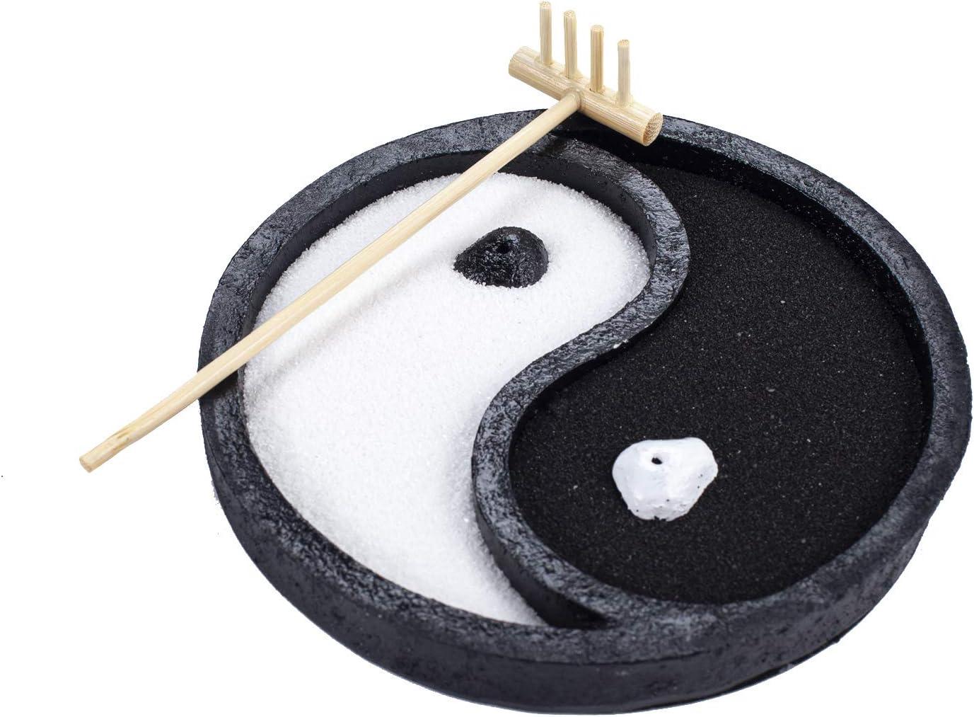 Mini Yin Yang Zen Garden Feng Shui Meditation Desktop Home Décor (GR014)