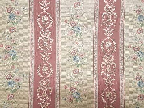 Retro Vintage Fiori Sfondo Floreale Rosa Cipria Crema Seta Goffrato