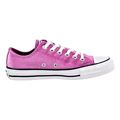 Converse Womens All Star Velvet Ox Pink Sapphire White Size 5.5