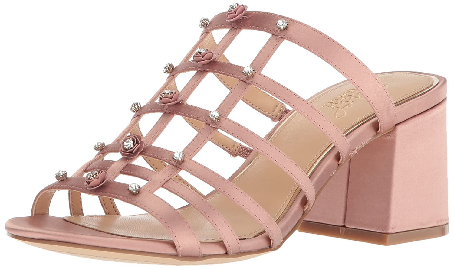 Badgley Mischka Jewel Women's Thorne Slide Sandal B071JZV8JS 10 B(M) US|Blush