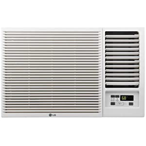 LG 7,500 115V Window-Mounted 3,850 BTU Supplemental Heat Function Air Conditioner White