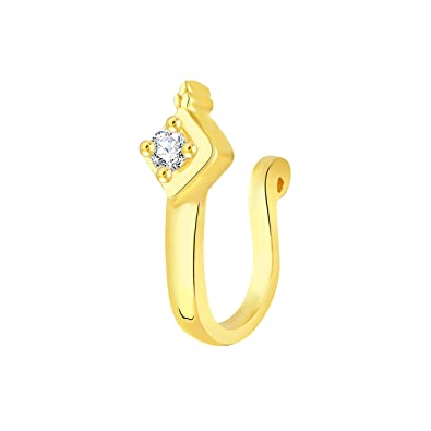f37d8232e V. K. Jewels Nose Pin Collection Nose Ring for Women (Golden) (vknr1035g)