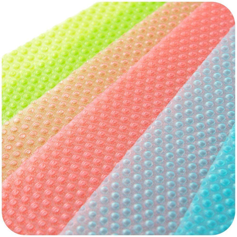 Alfombrilla para nevera 4 unidades, 3 colores, antideslizante, antibacteriana, antihumedad LVEDU 4 PCS