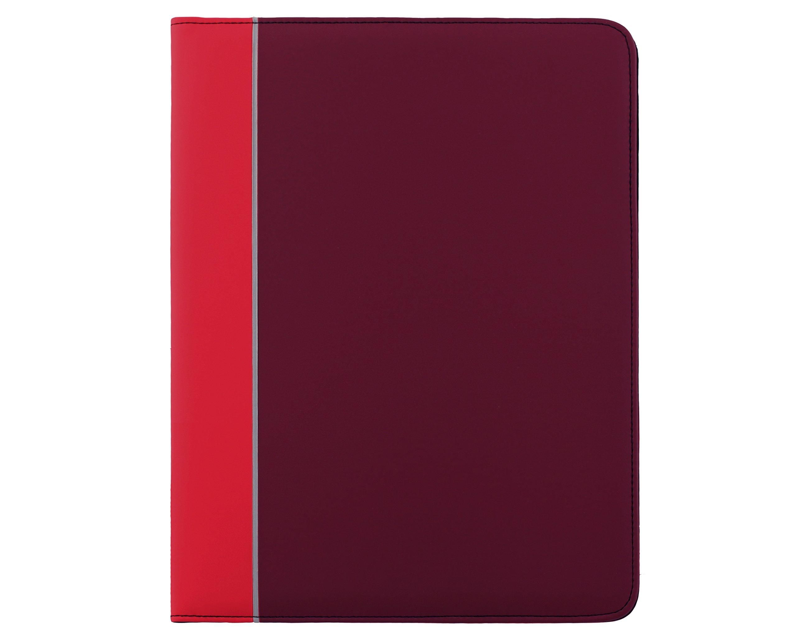Red Padfolio, Tonal Writing Padfolio and Resume Holder with BONUS Pad Red desk folder